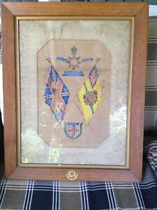 Early East Yorkshire military painting of flags/insignia. Under g Riverstone Blacktown Area Preview