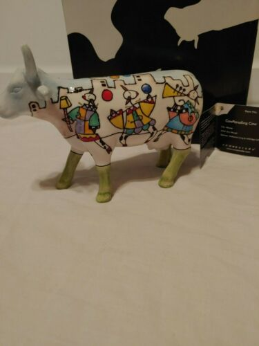 "#7323 ""COW PARADING"" Cow Parade Figurine *RARE* New in box/ tag"