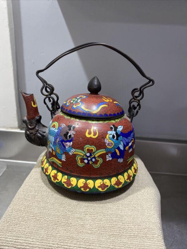 Fantastic Chinese Cloisonne Teapot