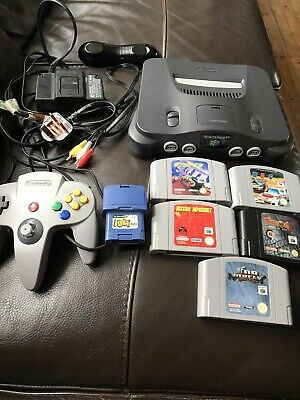 Nintendo 64 Black Console (PAL) N64 bundle controller 5 Games MRC No Mercy