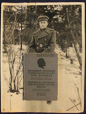 Soviet Russian Rabinovich 2 Komsomol ticket 1939 Jew photos order orden ordre