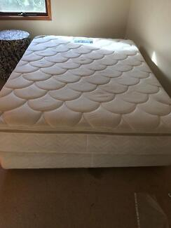 Queen sized bed base with free mattress if required
