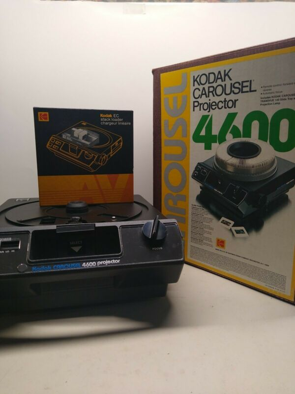 Kodak 4600 Carousel Slide Projector w/Stack Loader no Tray. Great Condition!!