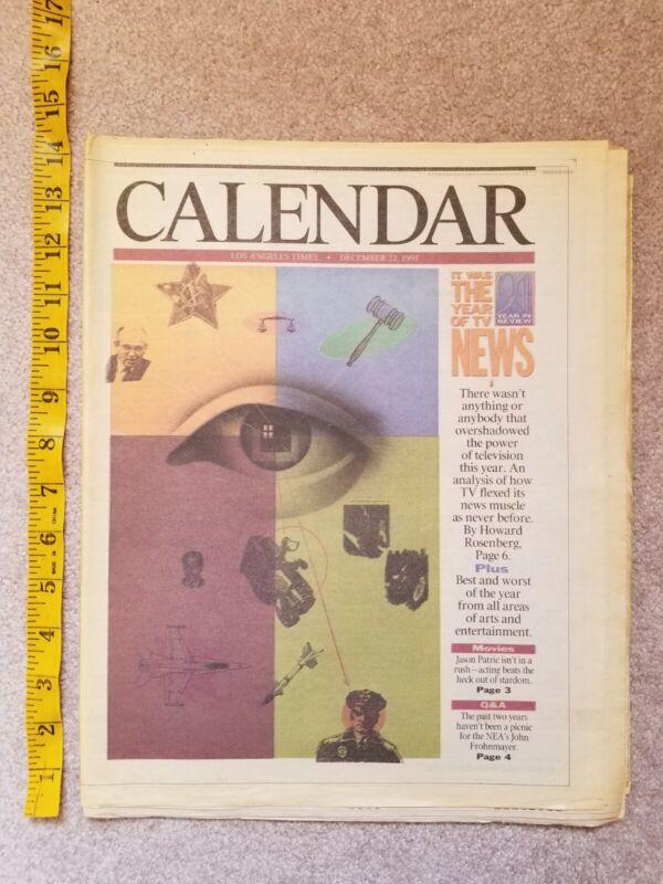 LA Times Calendar December 1991 Full Page Movie Ads newspaper Last Boy-Scout(L26