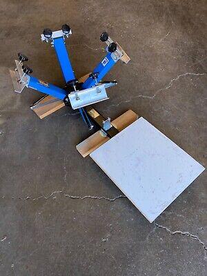 Full Ryonet Screen Printing Setup - 4 Color Press Flash Dryer Supplies