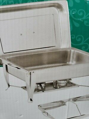 New Catering Stainless Steel Chafer Chafing Set 8qt Buffet Party Pack
