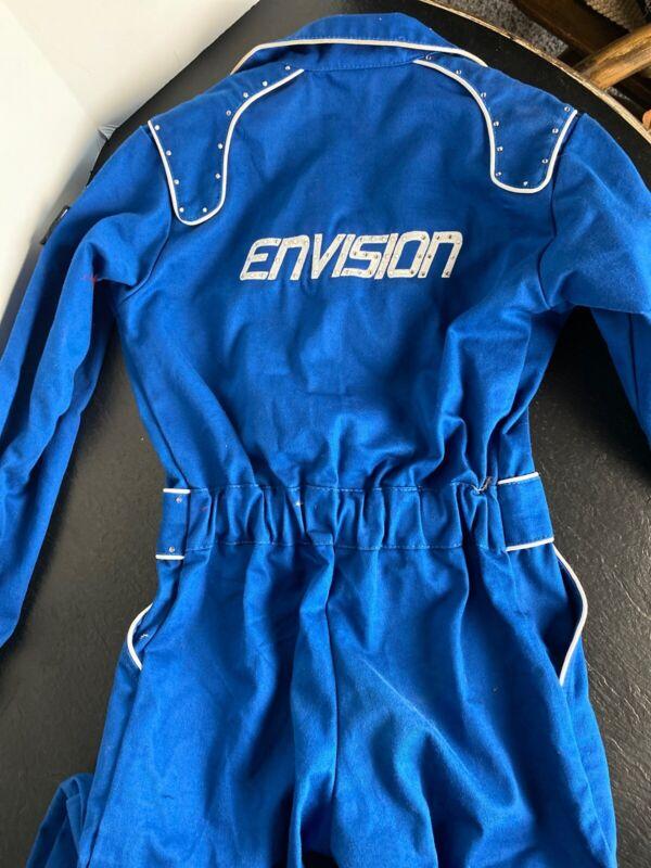 Crow Enterprizes Proban 1 Jr-M Racing Suit Blue Envision Rhinestones Excellent!