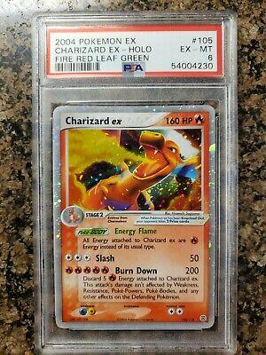 2004 Pokemon EX Charizard EX HOLO. Fire Red Leaf Green. PSA 6. 105/112. EX-MINT