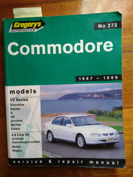 vy v6 holden commodore service manual gregorys other automotive rh gumtree com au holden-vt-vx-vy-vu-commodore-workshop-manual password holden vy commodore workshop manual pdf