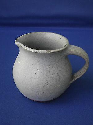 Matt Sheen Mottled Light Blue Green Small Studio Art Pottery Jug Makers Mark OIO