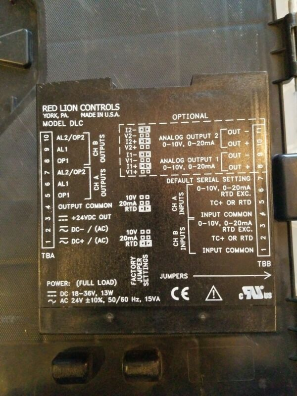 RED LION CONTROL DLC01001 DUAL LOOP CONTROLLER *USED*