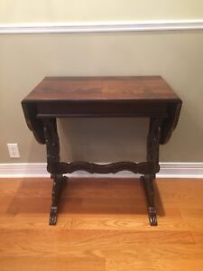 Vintage Console Table - Dropleaf Ends - Walnut