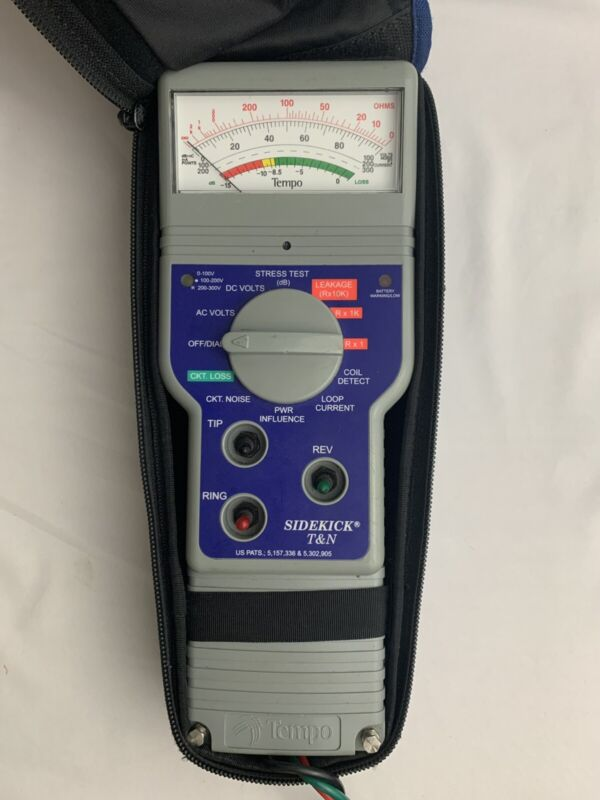 Tempo Sidekick 7B And T & N Telephone / Cable Stress Tester / case & Instruction