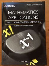 Mathematics Applications Year 11 ATAR Course Units 1 & 2 Cottesloe Cottesloe Area Preview