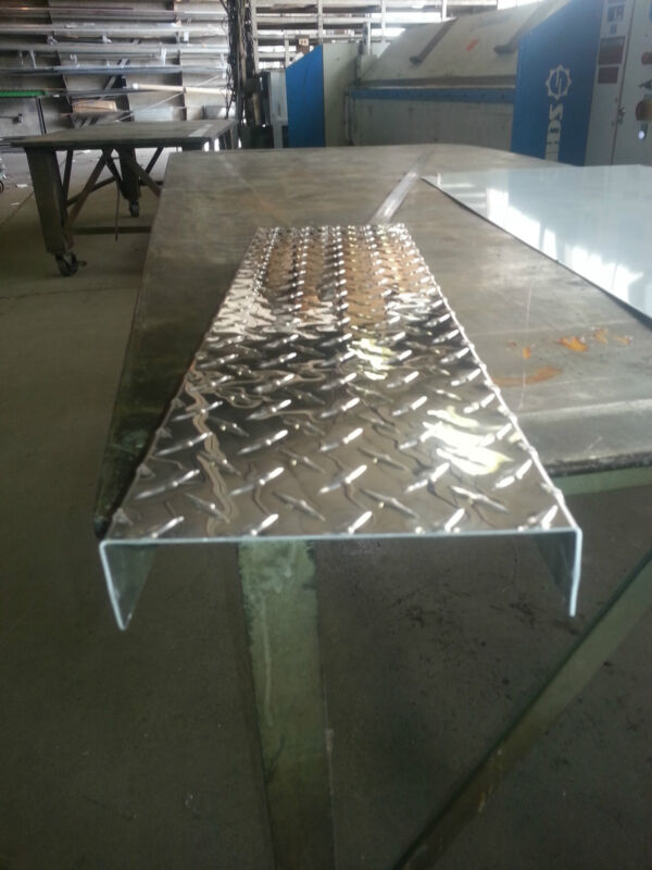 ".063 Aluminum Diamond Plate Channel 1"" x 3"" x 1"" x 72"""
