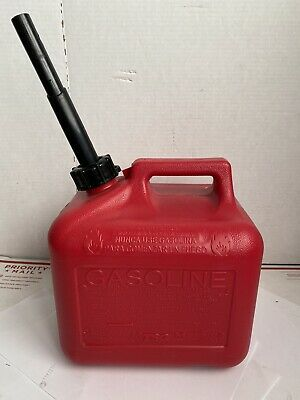 2 Gallon Midwest Can Company Vented Gas Can Old Style Gasoline Jug