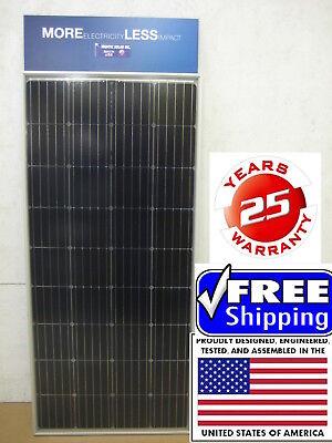 2- 200 +25% Watt 12 Volt Battery Charger Solar Panel Off Grid RV Boat 400+ 25% W