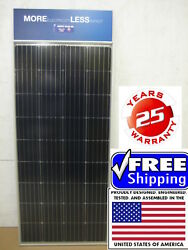200+25% Watt 12 Volt Solar Panel Off Grid RV Boat highest power 12V you can buy
