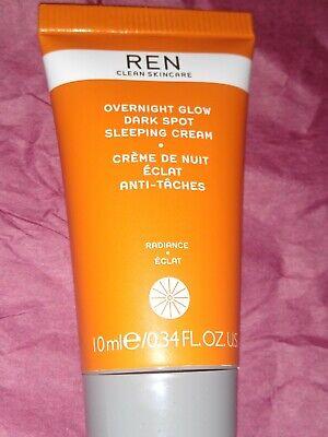Ren Overnight Glow Dark Spot Sleeping Cream 10ml BRAND NEW SEALED
