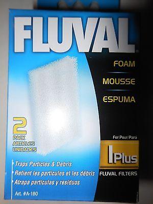 Fluval 2 Plus Foam - Fluval 1 Plus 2 pack Foam Pad A-180