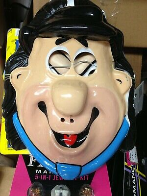 Halloween Mask Fred (Hanna Barbera Classic Deluxe Fred Flinstone Vacuform halloween mask NOS)