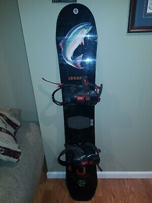 "Vintage Burton  1993 Jeff Brushie ""Trout"" 156cm with bindings"