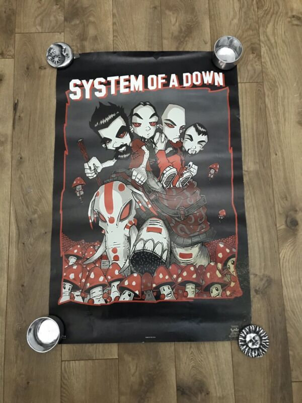Vintage SYSTEM OF A DOWN MUSIC BAND RARE AUTHENTIC 2002 POSTER