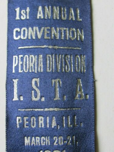 1931 ISTA ILLINOIS TEACHERS ASSN 1st CONVENTION PEORIA DIVISION