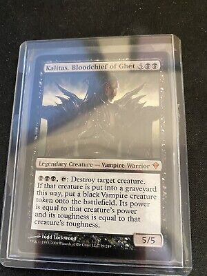 MTG- Kalitas, Bloodchief of Ghet - Mythic Black Legendary Creature from Zendikar