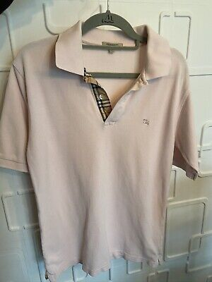 Burberry Polo Shirt, Unisex Size S, Pink