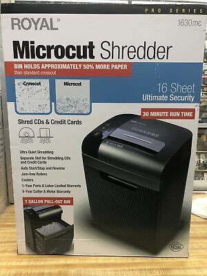 New Royal 1630mc Heavy Duty Micro-cut 7gal16 Sheet Shredder For Office Home