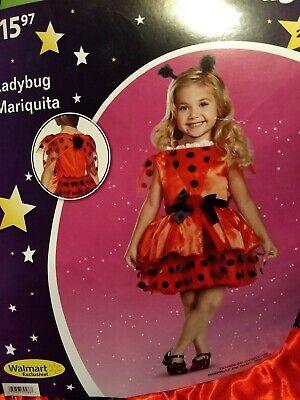 Ladybug Toddler Costume (Girls Ladybug 3-Piece Costume Cosplay Dress Up Toddler Toddler Size 2T)