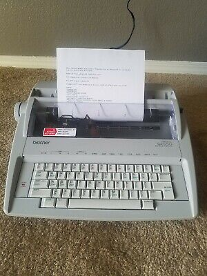 Brother Correctronic Gx-6750 Daisy Wheel Electronic Typewriter. With Cover.