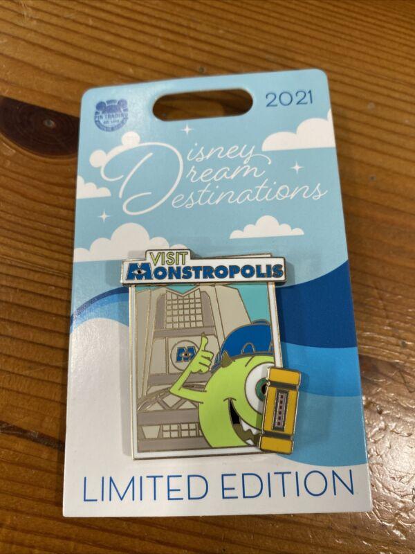 Disneyland 2021 Disney Dream Destinations Visit Monstropolis LE Pin