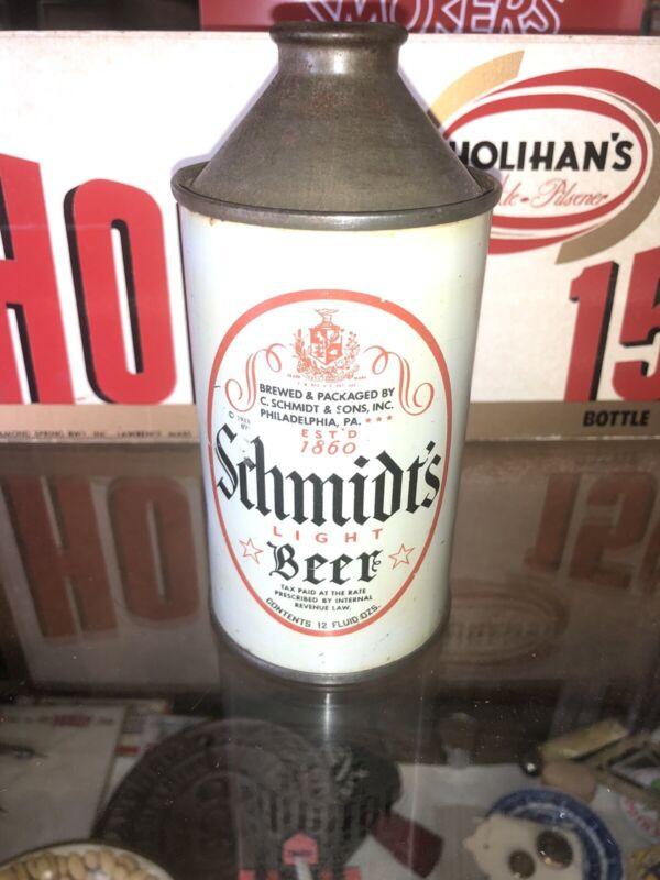 Schmidts Light Beer 12 Oz Gray  Conetop  Beer Can