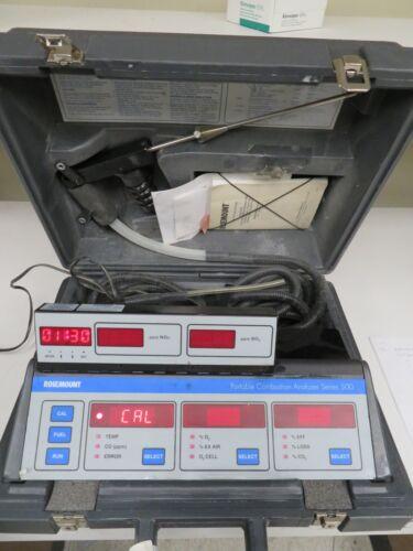Rosemount Series 500 Portable Combustion Analyzer w/ Case & Accessories - MW6