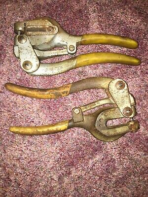 Roper Whitney Hand Punches Vintage Metal Punches X2 Works