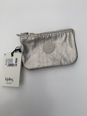BRAND NEW KIPLING CREATIVITY S PURSE CLOUD METAL SHIMMER POUCH CARD