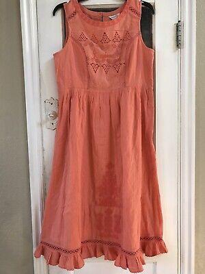 NWT $138 M-L 8-10 Sundance Catalog Lined Lace Embroidered Crochet Boho Dress NEW