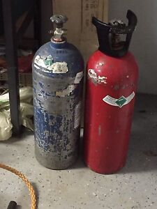 Co2 gas cylinders.
