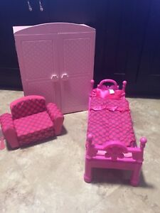 American girl bed, closet and chair