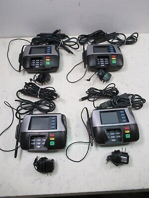 Lot Of 4 Verifone Mx850 Credit Card Terminals W Stylus Power Supplies Pos