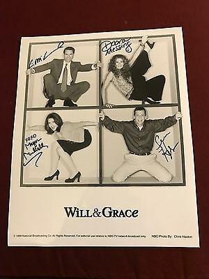 Will & Grace CAST Signed Reprint 8x10 Photo Mullally Hayes McCormack Messing