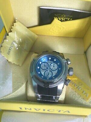 Invicta Men's RESERVE BOLT ZEUS Swiss Made Quartz Chrono Silver-Blue Dial #21810