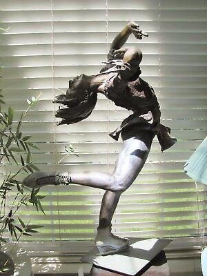 "Bronze ""Nicole's Layback 48.5""  by Douglas Gebler Figure Skater Sculpture. #4/15"