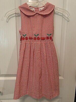 Kids Red Dresses (Specialty Kids Girls Size 5 Cherry Red Seersucker Dress)