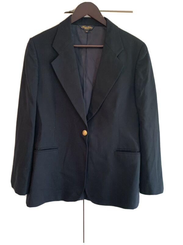 Brooks Brothers Brooksease Navy Jacket Blazer Boys Sz 10 Wool Gold Button
