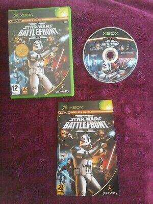 Star Wars Battlefront II Microsoft Xbox game. Original. Complete. Starwars 2