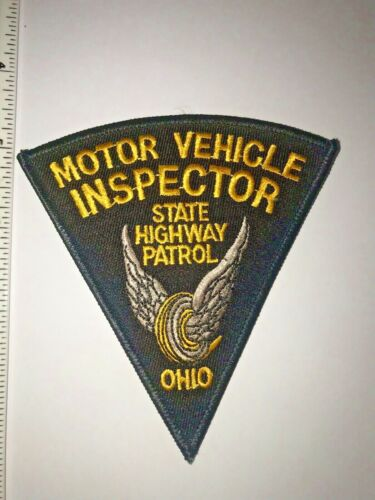 Ohio State Highway Patrol Motor Vehicle Inspector Police Shoulder Patch New