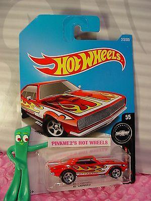 htf Chevy '67 CAMARO #313✰red; 5sp✰Camaro Fifty✰2017 i Hot Wheels WW case P